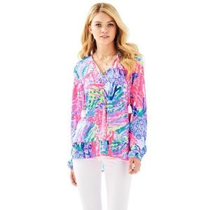 Lilly Pulitzer Daisy Knit Top Size M Rainbow Solei
